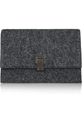 Proenza Schouler The Lunch Bag Small Felt And Leather Clutch