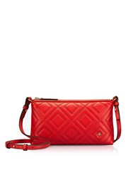 Tory Burch Handbags Fleming Exotic Red Quilted Leather Chain Crossbody Bag