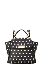Zac Posen Eartha Imitation Pearl Lady Convertible Backpack Black