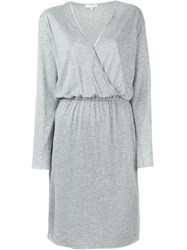 Dagmar Wrap Jersey Dress Grey
