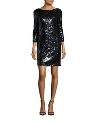 Vero Moda Sequined Shift Dress Black