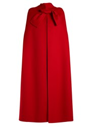 Valentino Tie Front Cape Red