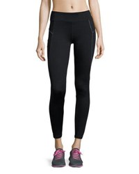 Marc New York Metallic Stitch Sport Leggings Black