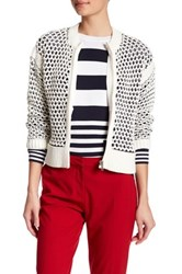 Love Moschino Loose Knit Jacket White