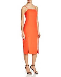 C Meo Collective The Playmate Double Slit Dress Red