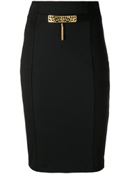Class Roberto Cavalli Embellished Pencil Skirt Black