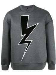 Neil Barrett Lightning Bolt Sweatshirt Grey