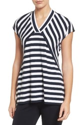 Chaus Women's High Low Stripe Top