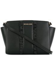 Michael Kors Collection Frill Embellished Shoulder Bag Black