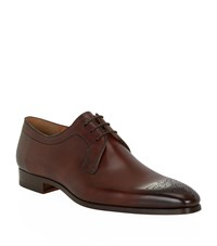 Magnanni Punch Toe Leather Derby Male
