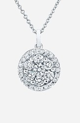Bony Levy Women's Flower Button Diamond Pendant Necklace Nordstrom Exclusive