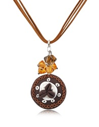 Dolci Gioie Chocolate Cake Pendant W Lace Brown