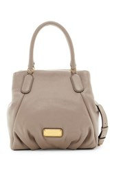 Marc By Marc Jacobs New Q Fran Leather Satchel Gray