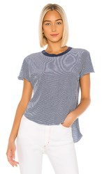 Frank And Eileen Tee Lab Heritage Jersey Tee In Blue. Indigo Melange And White Stripe