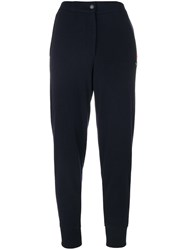 Jo No Fui High Waisted Track Pants Cotton Polyester Viscose Glass Xs Blue