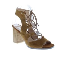 Bronx Wood Stack Heel Gilly Sandals Medium Brown