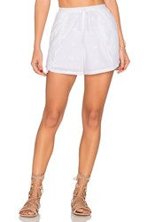 Zulu And Zephyr Blooming Wrap Short White
