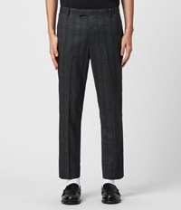 Allsaints Foxley Check Trousers Charcoal Grey