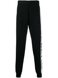 Iceberg Logo Tape Track Pants Black