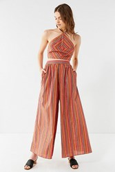 Urban Outfitters Uo Wind Song Wide Leg Pant Red