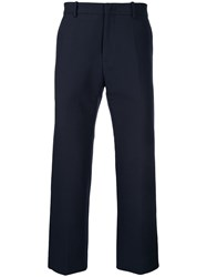 N 21 No21 Cropped Regular Trousers Cotton Blue