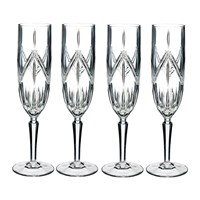 Waterford Lacey Stemware Champagne Flutes Set Of 4