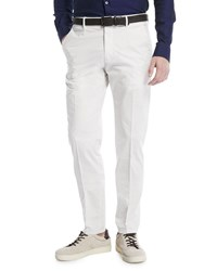 Z Zegna Slim Leg Chino Pants Off White