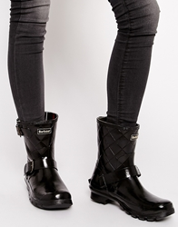 Barbour Low Biker Welly Boots Black