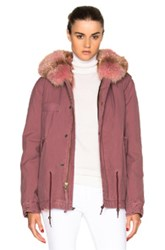 Mr And Mrs Italy Mini Parka Jacket In Pink