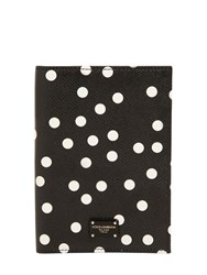 Dolce And Gabbana Polka Dot Leather Passport Holder