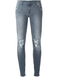 7 For All Mankind 'The Skinny' Jeans Grey