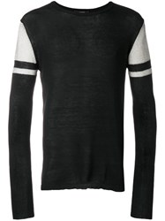 Unconditional Two Tone Sweater Black