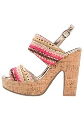 Refresh High Heeled Sandals Taupe Coral