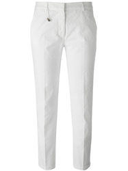 Incotex Cropped Jacquard Trousers White