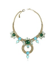 Roberto Cavalli Bohemian Gold And Turquoise Necklace