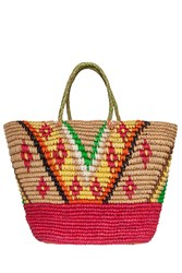 Sensi Studio Tribal Straw Beach Bag