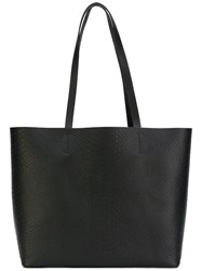 Aesther Ekme Snakeskin Embossed Tote Women Calf Leather Polyurethane One Size Black