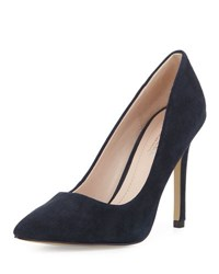 Charles By Charles David Phoebe Suede Pointed Toe Pump Navy