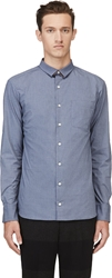 Kolor Blue Foldover Collar Shirt