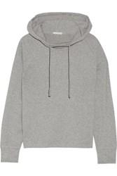 James Perse Cotton Blend Jersey Hooded Top Gray