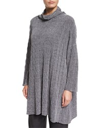 Eskandar Knit Cowl Neck Sweater Silver