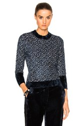 3.1 Phillip Lim Raglan Sweater In Blue Abstract Blue Abstract