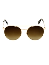 Cutler And Gross Round Aviator Style Sunglasses