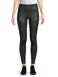 X By Gottex Zipper Leggings Black