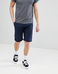 Esprit Slim Fit Chino Shorts In Navy
