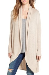 Leith Women's Shawl Collar Cocoon Cardigan Tan Etherea Heather