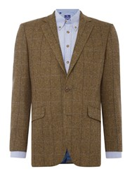Chester Barrie Herringbone Tweed Soho Jacket Green