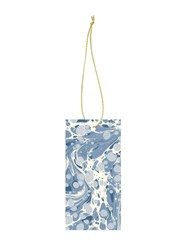 Ferm Living Set Of 6 Marbling Gift Tags Blue