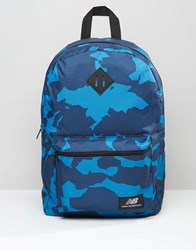 New Balance Camo Backpack In Navy Navy