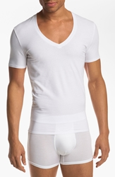 Tommy John 'Cool Cotton' Pima Cotton V Neck T Shirt White